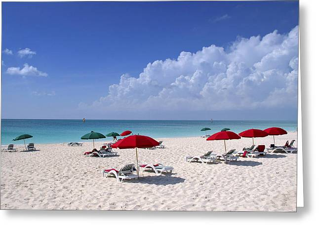 Turks And Caicos Islands Greeting Cards - Caribbean Blue Greeting Card by Stephen Anderson