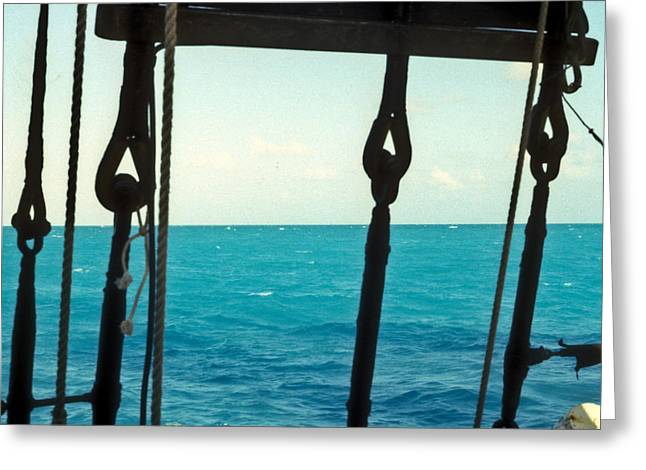 Square Rigger Greeting Cards - Caribbean from a Square Rigger Greeting Card by Douglas Barnett