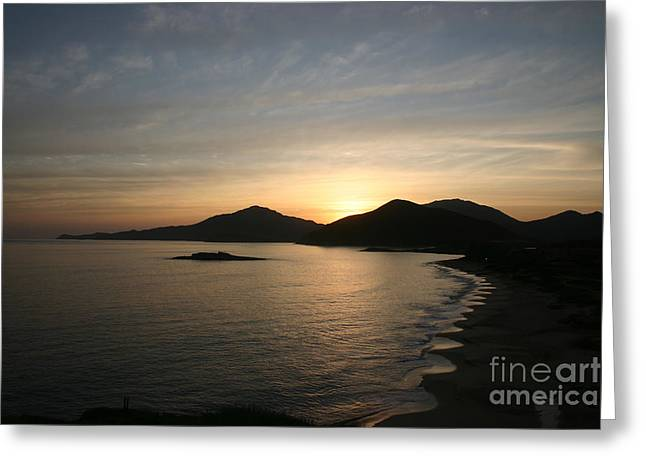 """""""nature Image"""" Pyrography Greeting Cards - Caribbean Sunrise Greeting Card by Torsten Dietrich"""