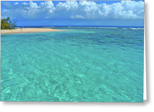 Caribbean Water Greeting Card by Scott Mahon