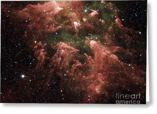 False-colored Greeting Cards - Carina Nebula Greeting Card by Stocktrek Images