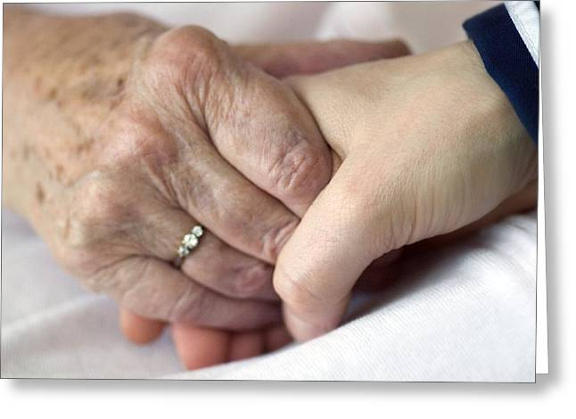 Caring For The Elderly, Conceptual Image Greeting Card by Crown Copyrighthealth & Safety Laboratory