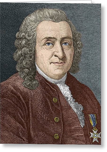 Opponent Greeting Cards - Carl Linnaeus, Swedish Botanist Greeting Card by Sheila Terry