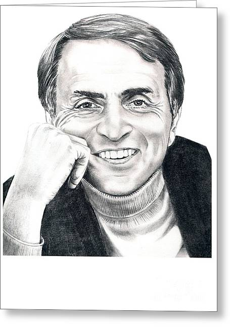 Murphy Elliott Greeting Cards - Carl Sagan Greeting Card by Murphy Elliott
