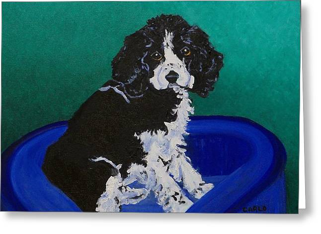 Cocker Spaniel Paintings Greeting Cards - Carlo Greeting Card by Lore Rossi