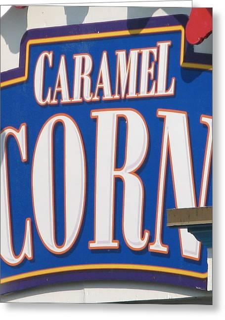 Amusements Greeting Cards - Carmel Corn Greeting Card by Kelly Mezzapelle