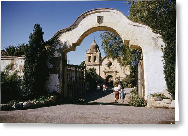 Gateway Church Greeting Cards - Carmel Mission, One Of The Chain Greeting Card by J. Baylor Roberts