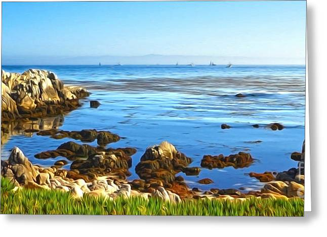 Gregory Dyer Greeting Cards - Carmel Seascape Greeting Card by Gregory Dyer