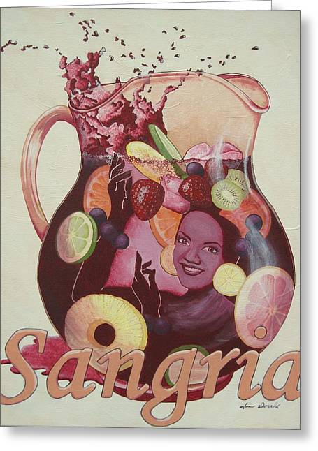 Virginia Wine Art Greeting Cards - Carmen Miranda Sangria Greeting Card by Jennifer  Donald