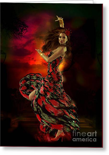 Passion Greeting Cards - Carmen Greeting Card by Shanina Conway