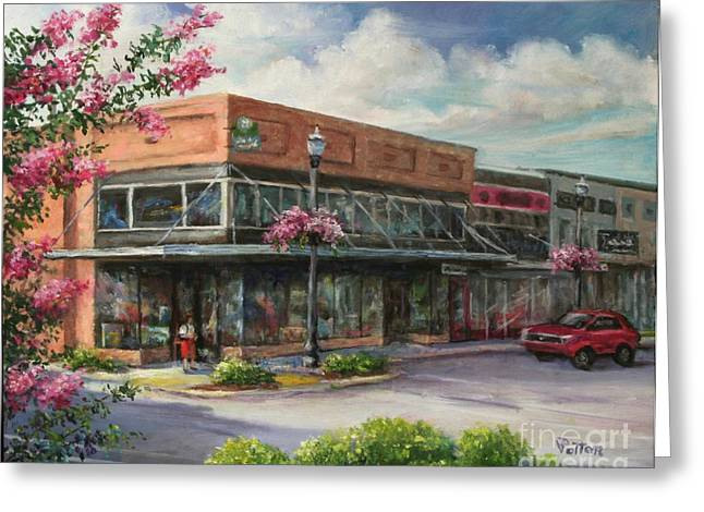 Arkansas Paintings Greeting Cards - Carmens Corner Greeting Card by Virginia Potter