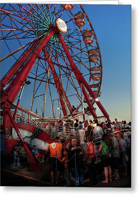 Customizable Greeting Cards - Carnival - An Amusing Ride  Greeting Card by Mike Savad