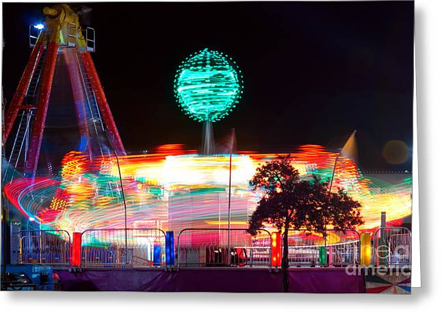 Lightning Photographs Greeting Cards - Carnival Excitement Greeting Card by James BO  Insogna