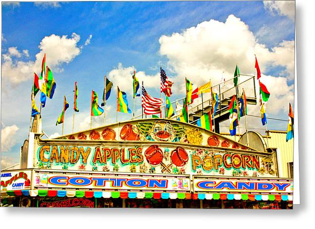 Amusements Greeting Cards - Carnival Food Vendor Greeting Card by Eye Shutter To Think