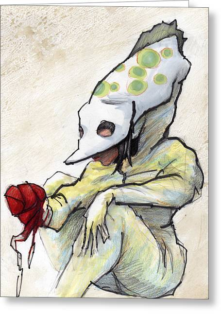 Award Winning Art Mixed Media Greeting Cards - Carnival Hat Greeting Card by Ethan Harris