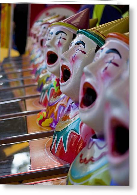Michelle Wrighton Greeting Cards - Carnival of Clowns Greeting Card by Michelle Wrighton