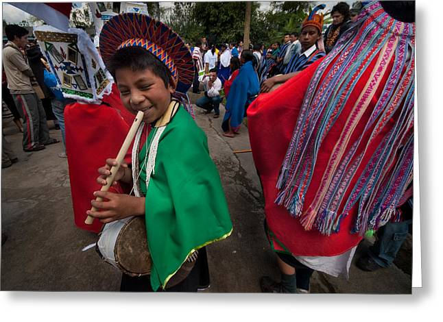 Tradition Greeting Cards - Carnival of forgiveness. Population of Sibundoy. Republic of Colombia. Greeting Card by Eric Bauer