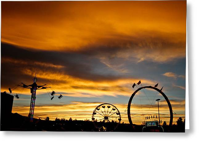 Carnival Sky Greeting Card by Mitch Shindelbower