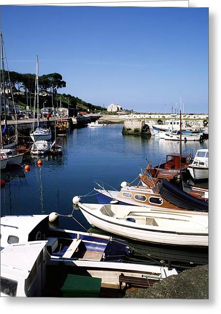 Sailboat Images Greeting Cards - Carnlough, Co. Antrim, Ireland Greeting Card by The Irish Image Collection