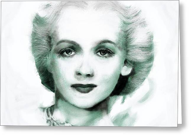 Legend Greeting Cards - Carole Landis Greeting Card by Arne Hansen