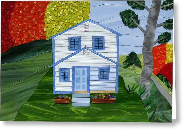 House Glass Art Greeting Cards - Carolina Jewel Greeting Card by Charles McDonell