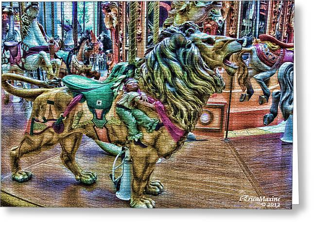Tn Digital Art Greeting Cards - Carousel Color Greeting Card by EricaMaxine  Price