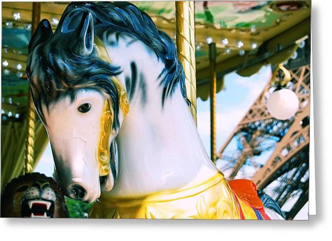 Galloper Greeting Cards - Carousel De Paris Greeting Card by JAMART Photography