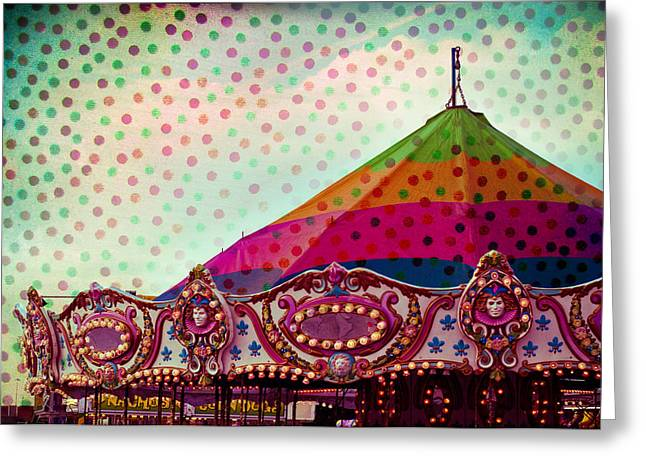 Nikon D80 Greeting Cards - Carousel Dots Greeting Card by Sonja Quintero