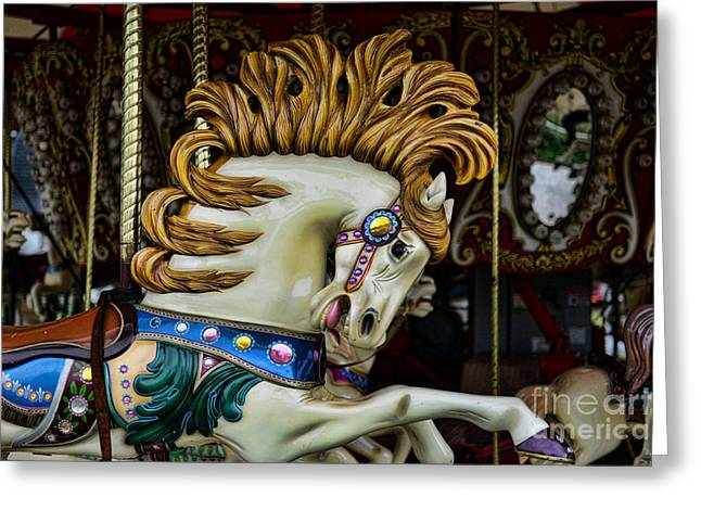 Carousel horse - 4 Greeting Card by Paul Ward