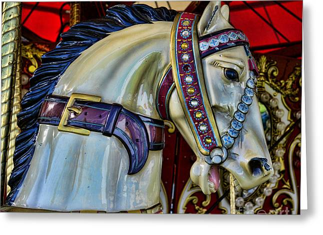 Country Fair Greeting Cards - Carousel Horse - 7 Greeting Card by Paul Ward