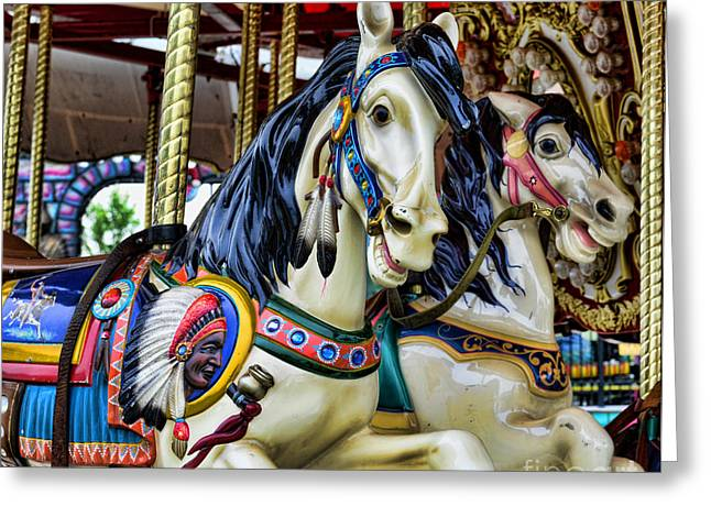 Carousel Horse 2 Greeting Card by Paul Ward