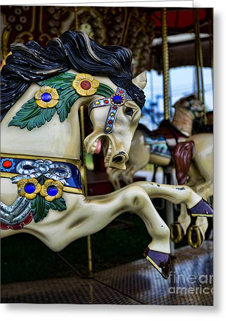 Armitage Greeting Cards - Carousel Horse 5 Greeting Card by Paul Ward