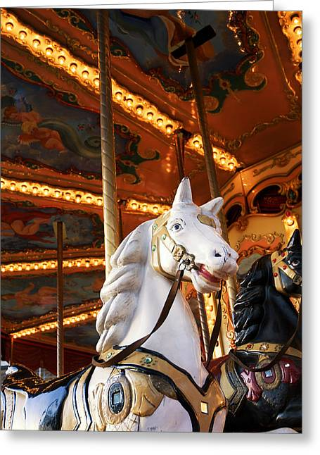 Detail Greeting Cards - Carousel horse Greeting Card by Fabrizio Troiani