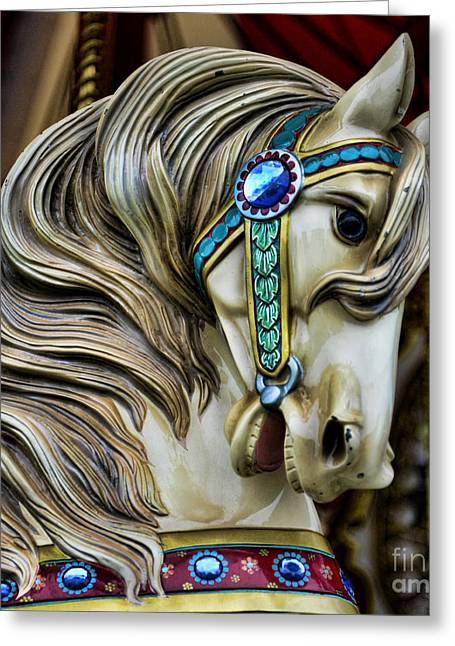 Carousel Greeting Cards - Carousel Horse  Greeting Card by Paul Ward