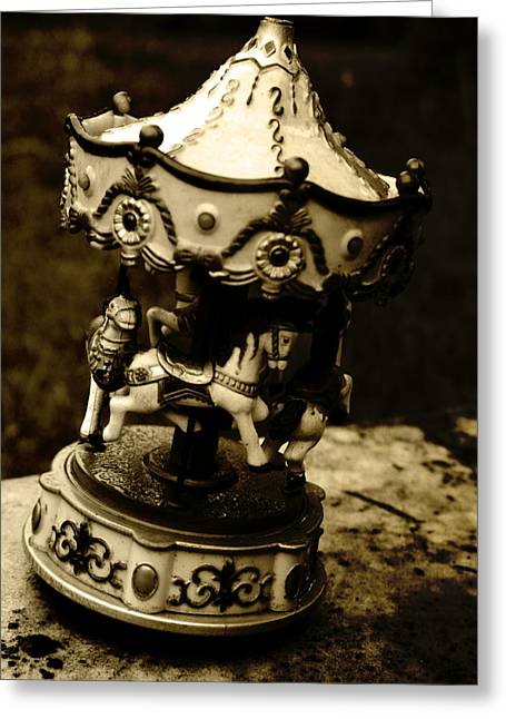 Headstones Greeting Cards - Carousel II Greeting Card by Off The Beaten Path Photography - Andrew Alexander