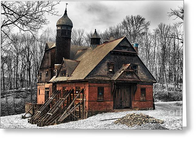 Empty Greeting Cards - Carraige House Greeting Card by Robert Wirth