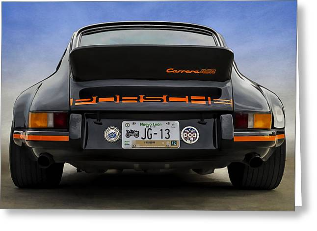 Vintage Transportation Greeting Cards - Carrera RSR Greeting Card by Douglas Pittman