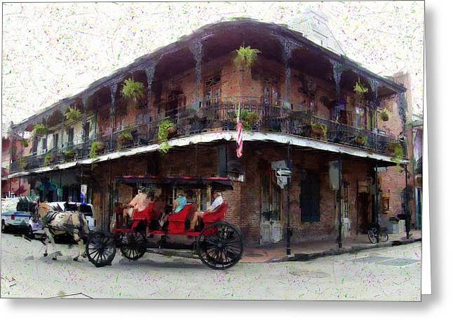 Quarter Horse Mixed Media Greeting Cards - Carriage Classic NOLA Greeting Card by Scott Crump