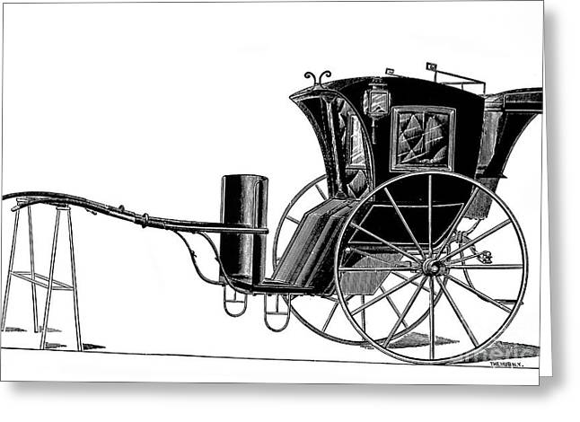 Hansom Greeting Cards - Carriage: Hansom Cab Greeting Card by Granger