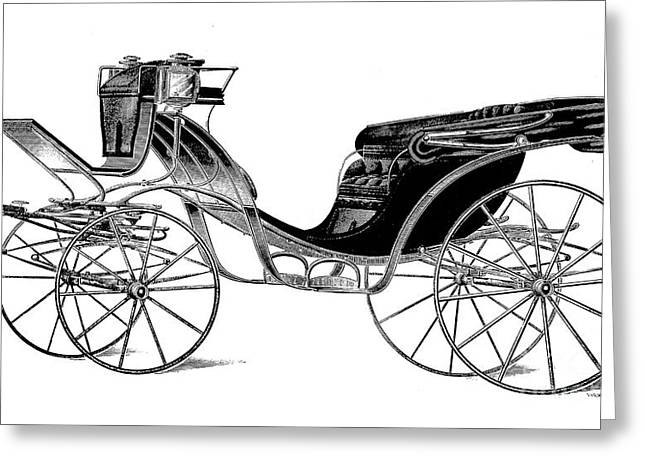 Carriage: Victoria Greeting Card by Granger