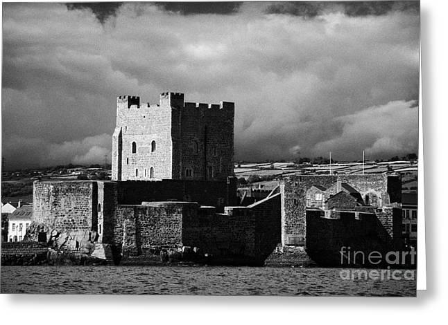 Sea View Greeting Cards - Carrickfergus Castle Carrick County Antrim Northern Ireland Uk Viewed From Th Greeting Card by Joe Fox