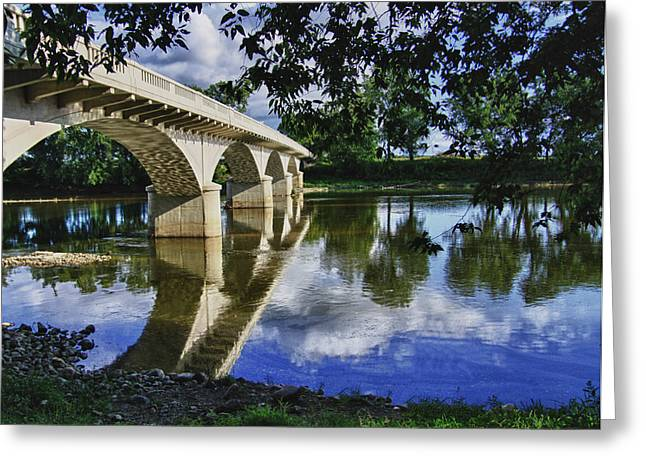 Indiana Scenes Greeting Cards - Carrollton Bridge Over the Wabash Greeting Card by Jim Finch