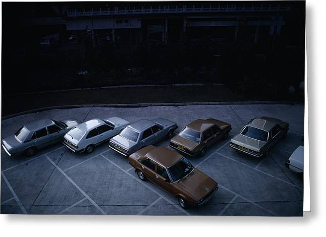 Conservative Greeting Cards - Cars in Hong Kong Greeting Card by Shaun Higson