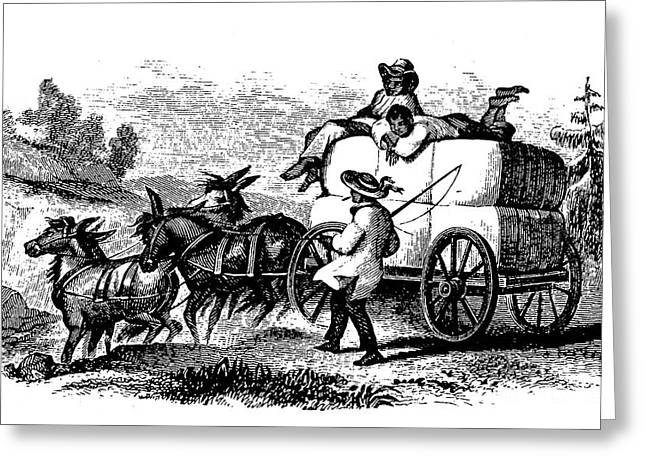 Farmers Field Greeting Cards - CART, 19th CENTURY Greeting Card by Granger