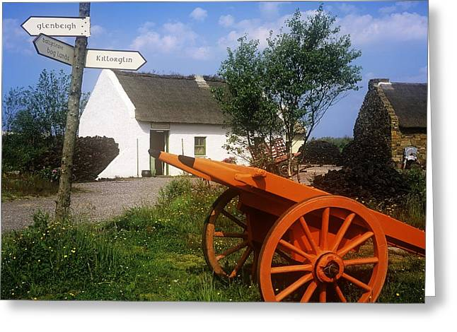Union Square Greeting Cards - Cart On The Roadside Of A Village, The Greeting Card by The Irish Image Collection