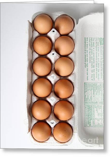 Fresh Eggs Greeting Cards - Carton Of Eggs, 1 Of 13 Greeting Card by Photo Researchers, Inc.