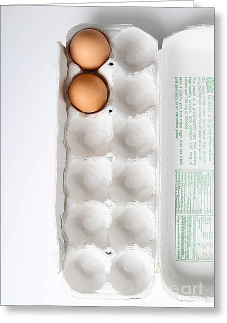 Fresh Eggs Greeting Cards - Carton Of Eggs, 11 Of 13 Greeting Card by Photo Researchers, Inc.
