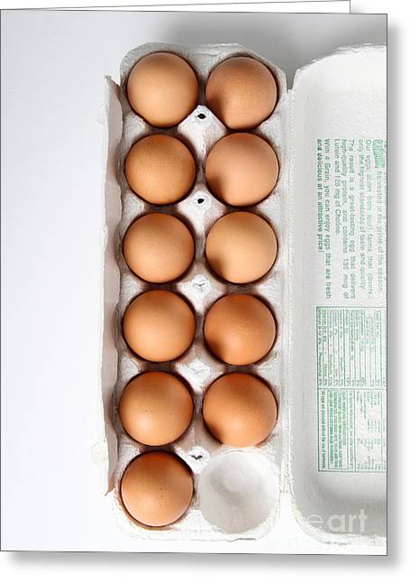 Fresh Eggs Greeting Cards - Carton Of Eggs, 2 Of 13 Greeting Card by Photo Researchers, Inc.