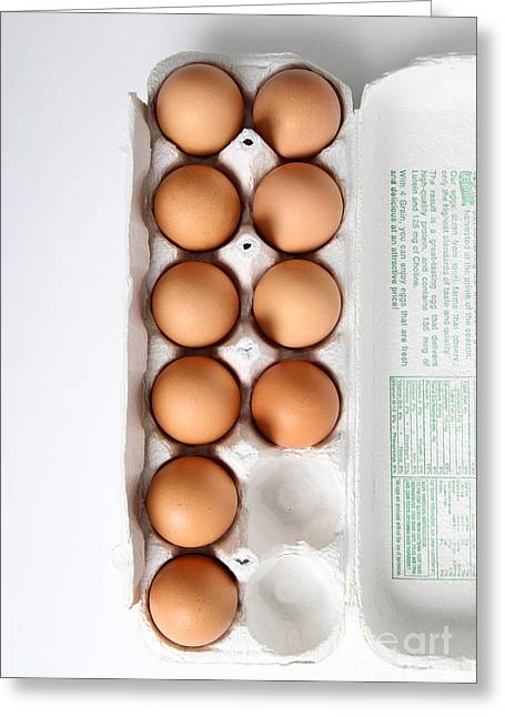 Fresh Eggs Greeting Cards - Carton Of Eggs, 3 Of 13 Greeting Card by Photo Researchers, Inc.