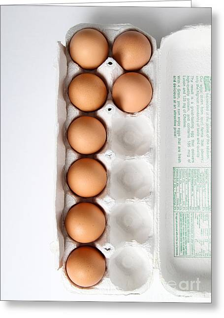 Fresh Eggs Greeting Cards - Carton Of Eggs, 5 Of 13 Greeting Card by Photo Researchers, Inc.